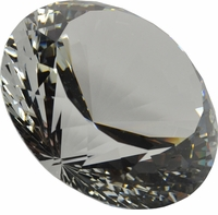 Clear Brilliant  3.15 Inch (80mm) Diamond Shaped Paerweight
