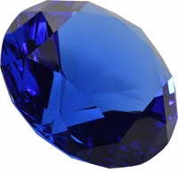 Blue Brilliant 3.15 Inch (80mm) Diamond Shaped Paperweight