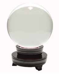 "Clear Crystal Ball Shaped Paperweight, 5.91"" Wide (150 mm)"