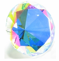 Clear Iridescent 4 Inch Diamond 100mm (Color Painted)