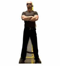 Club Bouncer Cardboard Cutout Life Size Standup