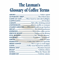 Coffee Terms Apron