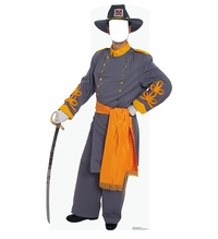 Confederate Civil War Soldier Stand-in Cardboard Cutout Life Size Standup