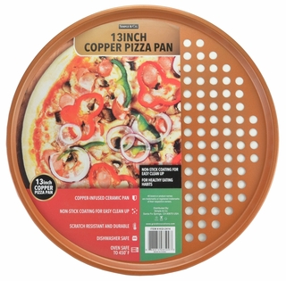 Copper Pizza Pan - Click to enlarge