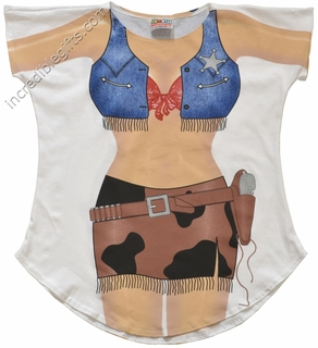Cowgirl Cover-Up T-Shirt - Made in America - Click to enlarge