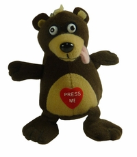 Crazy Bear Talking and Screaming Key Chain