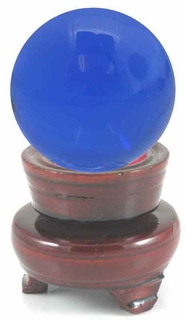 "Crystal Ball Shaped Paperweight, 3.15"" Wide (80mm) - Click to enlarge"