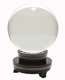 """Crystal Ball Shaped Paperweight, 5.12"""" Wide (130 mm) - Click to enlarge"""