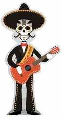 Day of the Dead Guitar Player Cardboard Cutout Life Size Standup