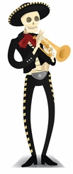 Day of the Dead Mariachi Cardboard Cutout Life Size Standup