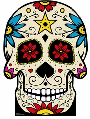 Day of The Dead Skull Cardboard Cutout Life Size Standup