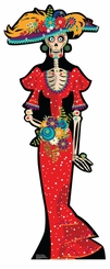 Day of the Dead Women Cardboard Cutout Life Size Standup