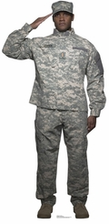 Digital Camo Soldier Cardboard Cutout Life Size Standup