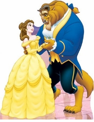 Disney's Beauty and The Beast Belle and Beast Cardboard Cutout Life Size Standup