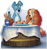 Disney's Lady and The Tramp Cardboard Cutout Life Size Standup