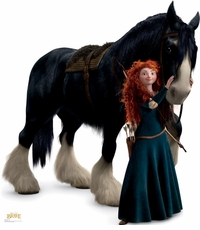 Disney's Merida and Angus from Brave Cardboard Cutout Life Size Standup