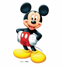 Disney's Mickey Mouse Cardboard Cutout Life Size Standup
