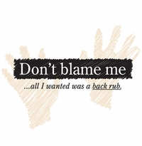 Don't Blame Me Maternity Nightshirt