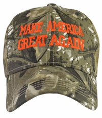 Donald Trump Make America Great Again Hat Hunter - Brown/Green