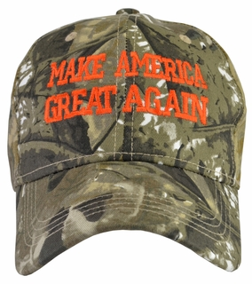 Donald Trump Make America Great Again Hat Hunter - Brown/Green - Click to enlarge