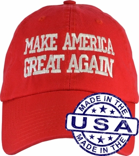 Donald Trump Make America Great Again Hat - 100% Made in the USA - Red Strap Back - Click to enlarge