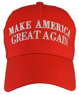 Donald Trump Make America Great Again Red Hat 100% Cotton - Click to enlarge