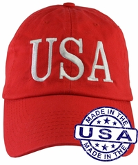 Donald Trump USA 45 Hat - 100% Made in the USA - Red Strap Back