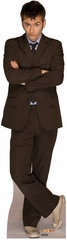 Dr. Who Cardboard Cutout Life Size Standup in a Brown Suit