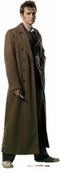 Dr. Who Cardboard Cutout Life Size Standup in a Rain Coat