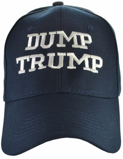 Dump Trump - Anti-Trump Navy Blue Hat - Click to enlarge