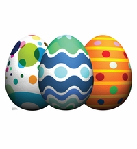 Easter Egg Grouping Cardboard Cutout Life Size Standup