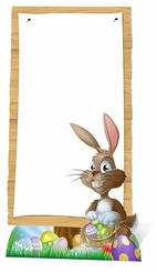 Easter Sign Cardboard Cutout Life Size Standup