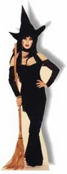 Elvira as a Witch Cardboard Cutout Life Size Standup