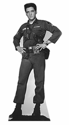 Elvis Presley Army Fatigues Cardboard Cutout Life Size Standup