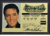 Elvis Presley Driver License ID