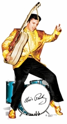 Elvis Presley Gold Jacket and Drums Cardboard Cutout Life Size Standup