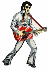 Elvis Presley Grey Swinging Legs Clock
