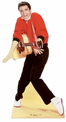 Elvis Presley Red Jacket with Guitar Cardboard Cutout Life Standup
