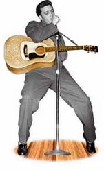 Elvis Presley with Guitar Cardboard Cutout Life Size Standup
