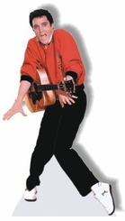 Elvis Presley with Guitar/Red Sweater Cardboard Cutout Life Size Standup