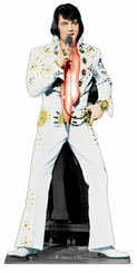 Elvis White Jumpsuit Cardboard Cutout Life Size Standup