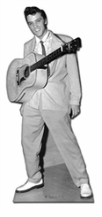 Elvis with Guitar Around Neck Cardboard Cutout Life Size Standup