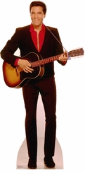 Elvis with Guitar Cardboard Cutout Life Size Standup