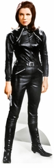 Emma Peel Black Leather Outfit Cardboard Cutout Life Size Standup