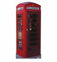English Phone Booth Cardboard Cutout Life Size Standup