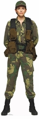 Female Soldier Cardboard Cutout Life Size Standup