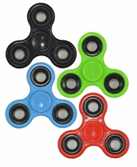 Fidget Spinner 4 Piece Set (Black, Green, Blue, Red)