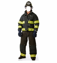 Fireman Stand-in Cardboard Cutout Life Size Standup
