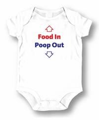 Food In Poop Out  Attitude Romper /Onesie
