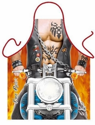 Free Rider Motorcycle Funny Novelty Apron
